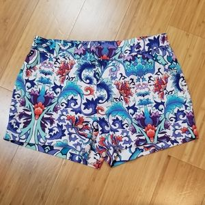 Nicole Miller Abstract Floral Shorts Size 2